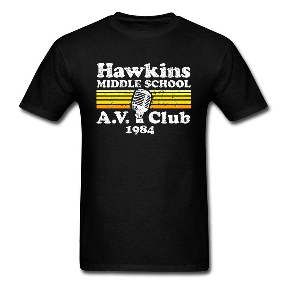 Vintage Stranger Things Hawkins, camisetas de Instituto Eleven Dustin, Algodón puro, manga corta juvenil, camiseta personalizada, hombres lisos