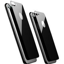 9H 2.5D задняя закаленная стеклянная защита для экрана для iPhone 7 8 Plus 7Plus 8 Plus X XS MAX XR 11 Pro MAX полное покрытие черный белый