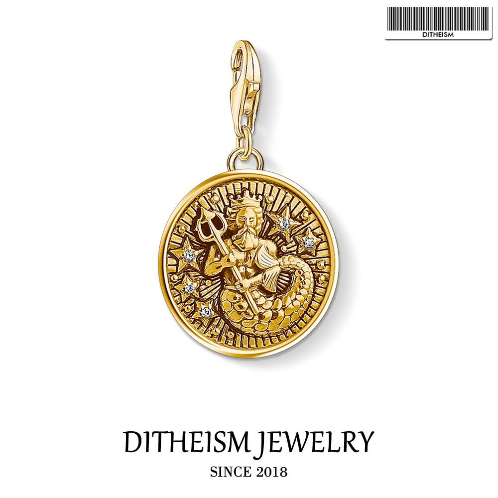 Signo del zodiaco, colgante de amuletos de Acuario, joyería 2019 de Plata de Ley 925, regalo de oro bohemio para mujeres y hombres, collar de pulsera ajustable