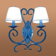 2 bras balcon bleu métal applique bougie lumière dressing applique murale mer méditerranée fer miroir lumière mariage luminaires