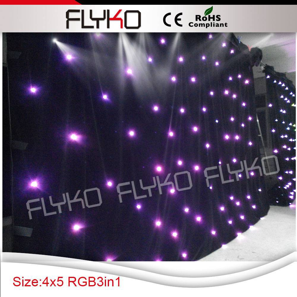إضاءة led RGB 4X5M ، خلفية المسرح ، الشحن المجاني