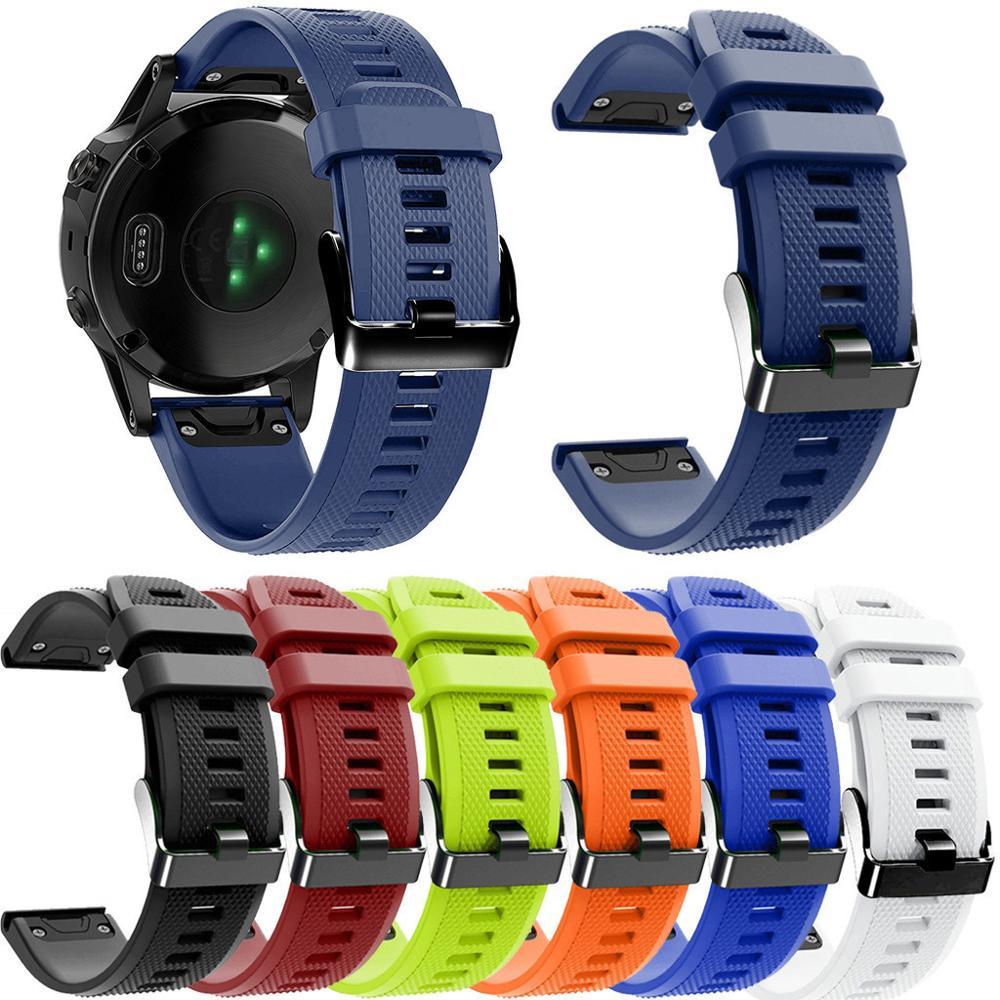 Роскошные Сменные термополиуретановые наручные часы для Garmin Fenix 5X/5X Plus/3/3 HR ремешок для часов Смарт-часы ремешок с пряжкой