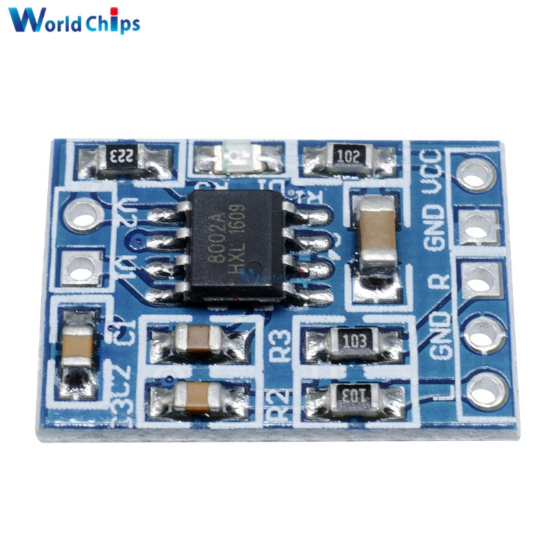 2Pcs HXJ8002 Power Amplifier Board Replace PAM8403 Mini Audio Voice Amplifier Module 2-5.5V 3W Single Channel