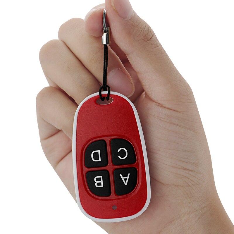 Duplicador de Control remoto de 433MHZ impermeable 4 teclas puerta de garaje copia inalámbrica universal clon código FOB duplicador llave de escáner