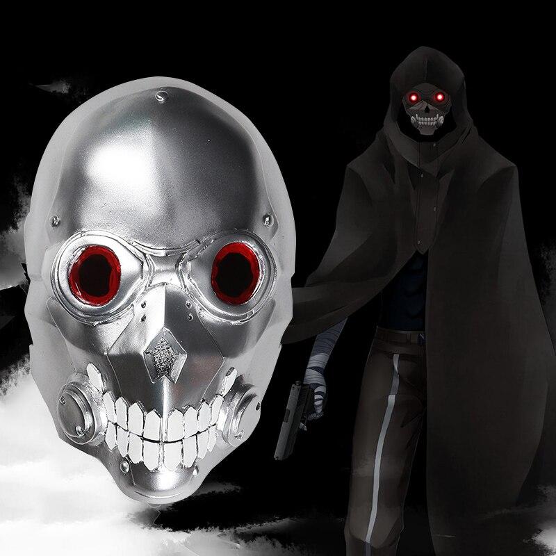 IGameracg espada arte Online 2 muerte arma máscara bala fantasma Sterben máscara Gun Gale Online jugador utilería para Cosplay o día de Brujas casco