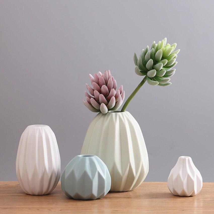Europe origami Ceramic vase decor crafts Porcelain vases Mini Flower bottle ModernTabletop flowerpot home decoration accessories