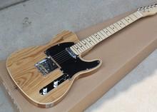 Guitarra eléctrica de Color Fresno al por mayor de fábrica con encuadernación blanca, Pickguard negro, Hardwares cromados, oferta personalizada
