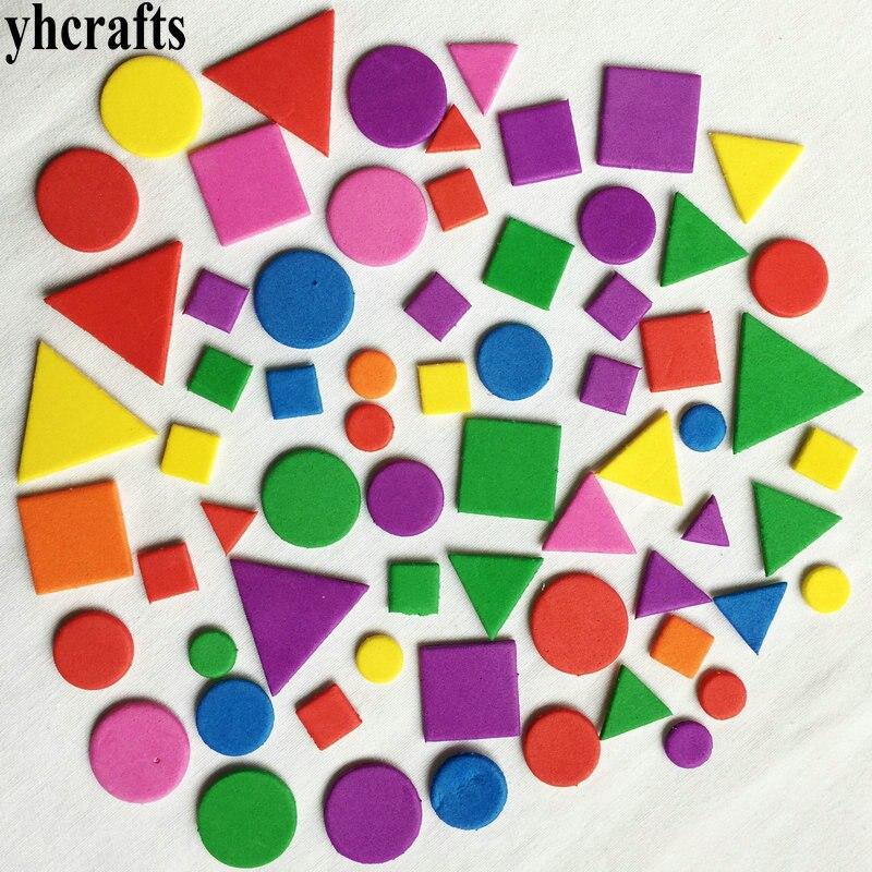 1 пакет (15-250 шт.)/партия, наклейки разных форм из пенопласта, неправильной геометрической фигуры, пазл из пенопласта для раннего развития, игр...