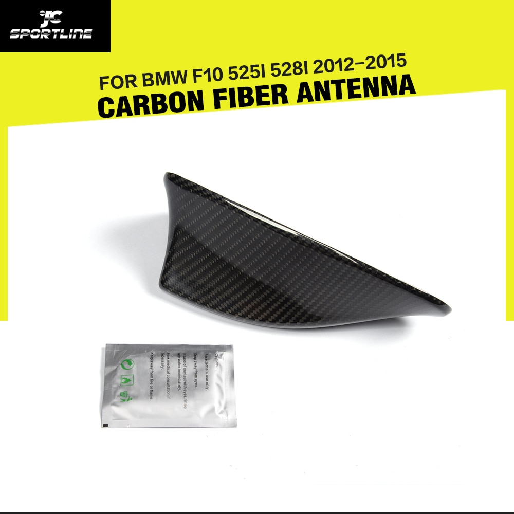 Decoración de fibra de carbono para techo de coche, aleta de tiburón, antena Exterior embellecedora para BMW 5 Series F10 525i 528i 2012-2015, estilo de coche