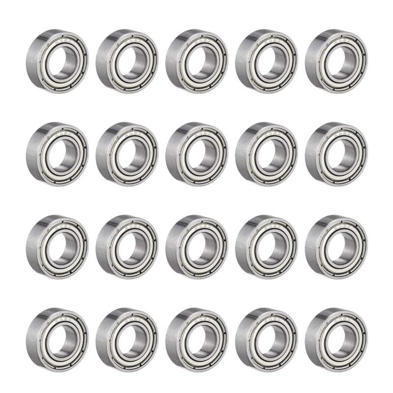 688ZZ Deep Groove Ball Bearing Double Shield 8mm x 16mm x 5mm Bearing Steel Bearings (Pack of 20)