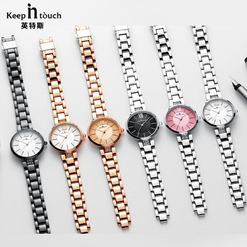 Relojes de lujo para mujer, pulsera de cuarzo de la mejor marca, reloj de pulsera para mujer con diseño a la moda, relojes de pulsera de oro rosa para mujer, reloj femenino