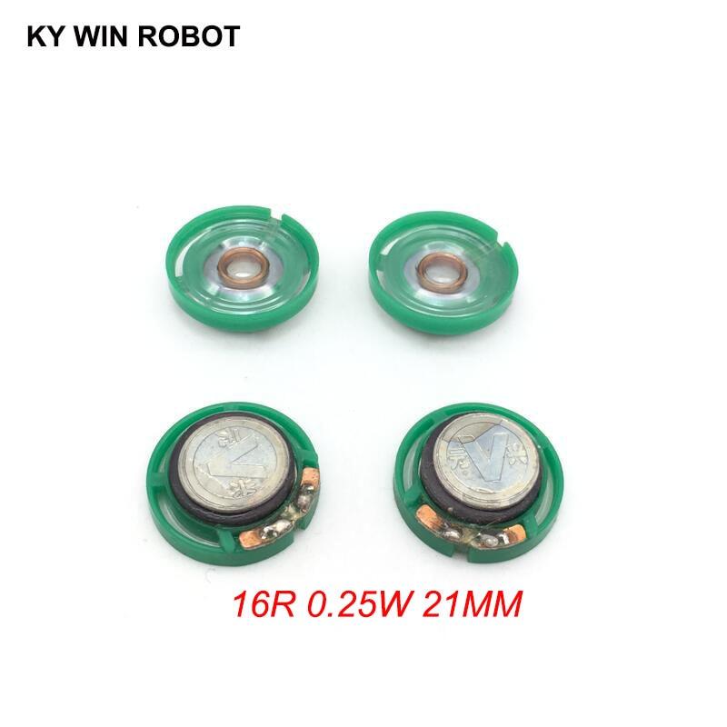5 unids/lote nuevo Mini altavoz ultradelgado 16 Ohmios 0,25 vatios 0,25 W 16R diámetro del altavoz 21MM 2,1 CM espesor 7MM