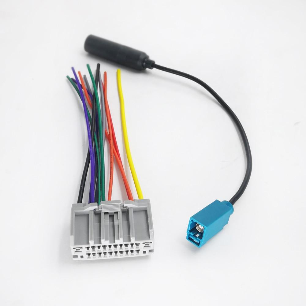 Biurlink автомобильный Радио CD плеер Жгут проводов стерео антенна провод кабель адаптер для Jeep Wrangler Dodge Chrysler