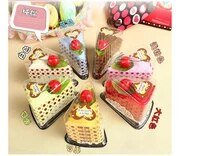 10pcslot creative cute sandwich cake towel festival wedding supplies towel christmas valentines gift towel 3030 cm