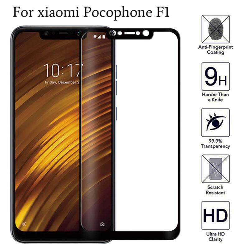 Защита экрана для Xiaomi Pocophone F1 закаленное стекло для Xiaomi Poco F1 F 1 Pocofone защитный чехол Glas Po co f1 6,18 пленка