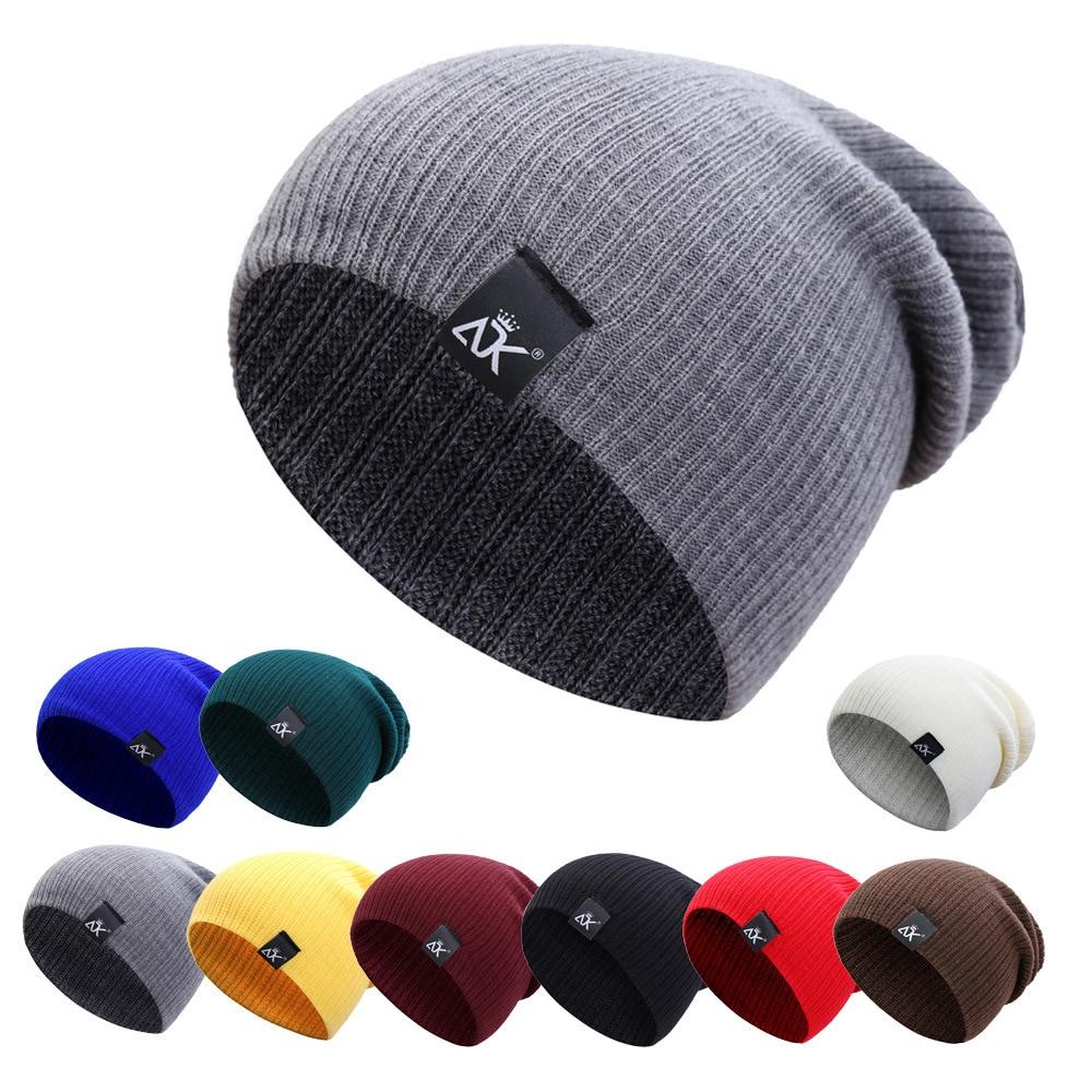COKK Knitted Beanie Womens Hat Winter Men Skullies Beanies Warm Casual Slouchy Crochet Female Baggy Cap Cheap