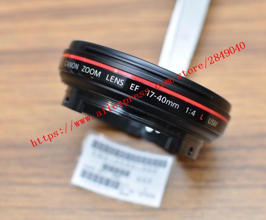 Nuevo filtro anillo UV + anillo rojo manga frontal barril piezas de reparación para Canon EF 17-40mm f/4L USM lente