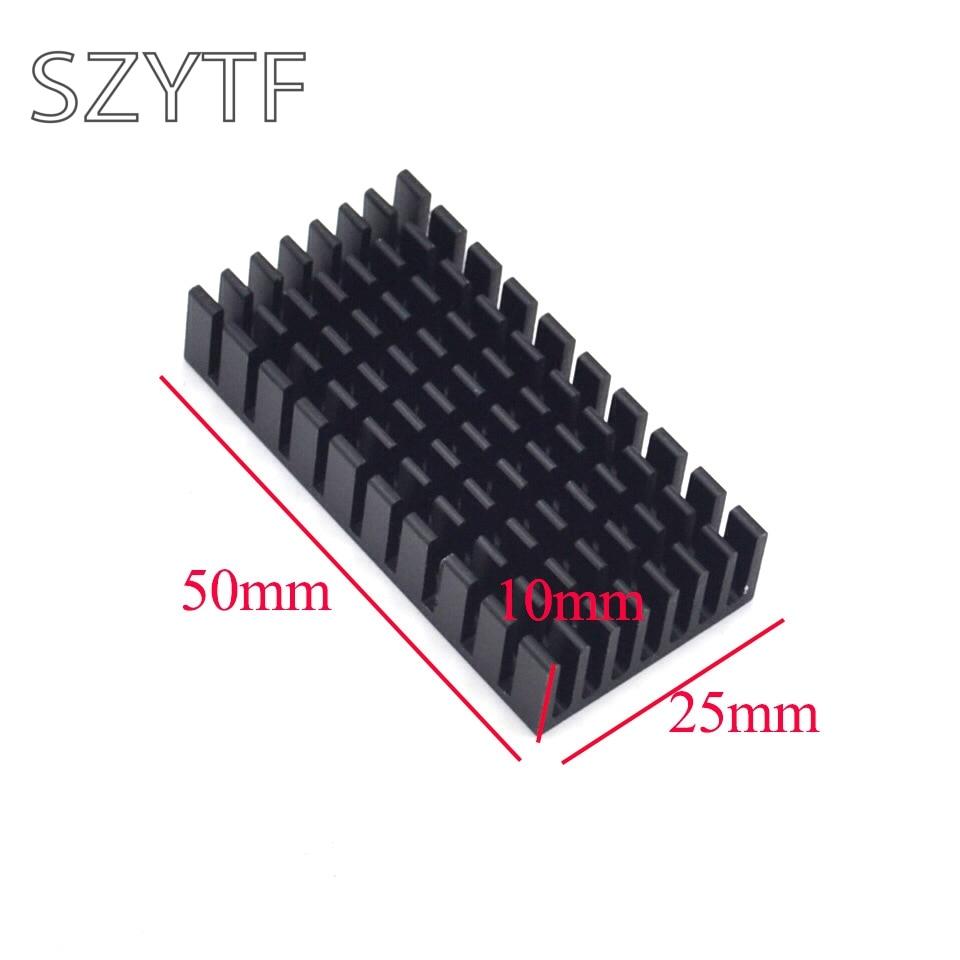 Теплоотвод 50*25*10 мм (черный слот) Высококачественный радиатор 10 шт