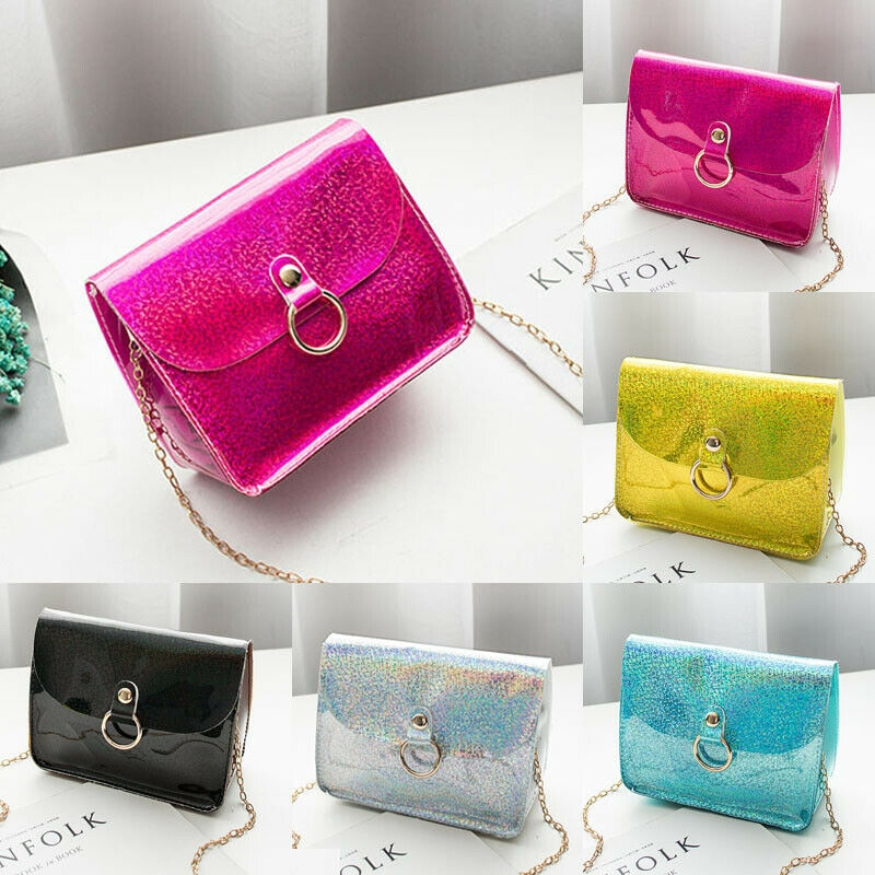 New Women PVC Transparent Shoulder Bag Tote Jelly Purse Wallets Handbag Satchel