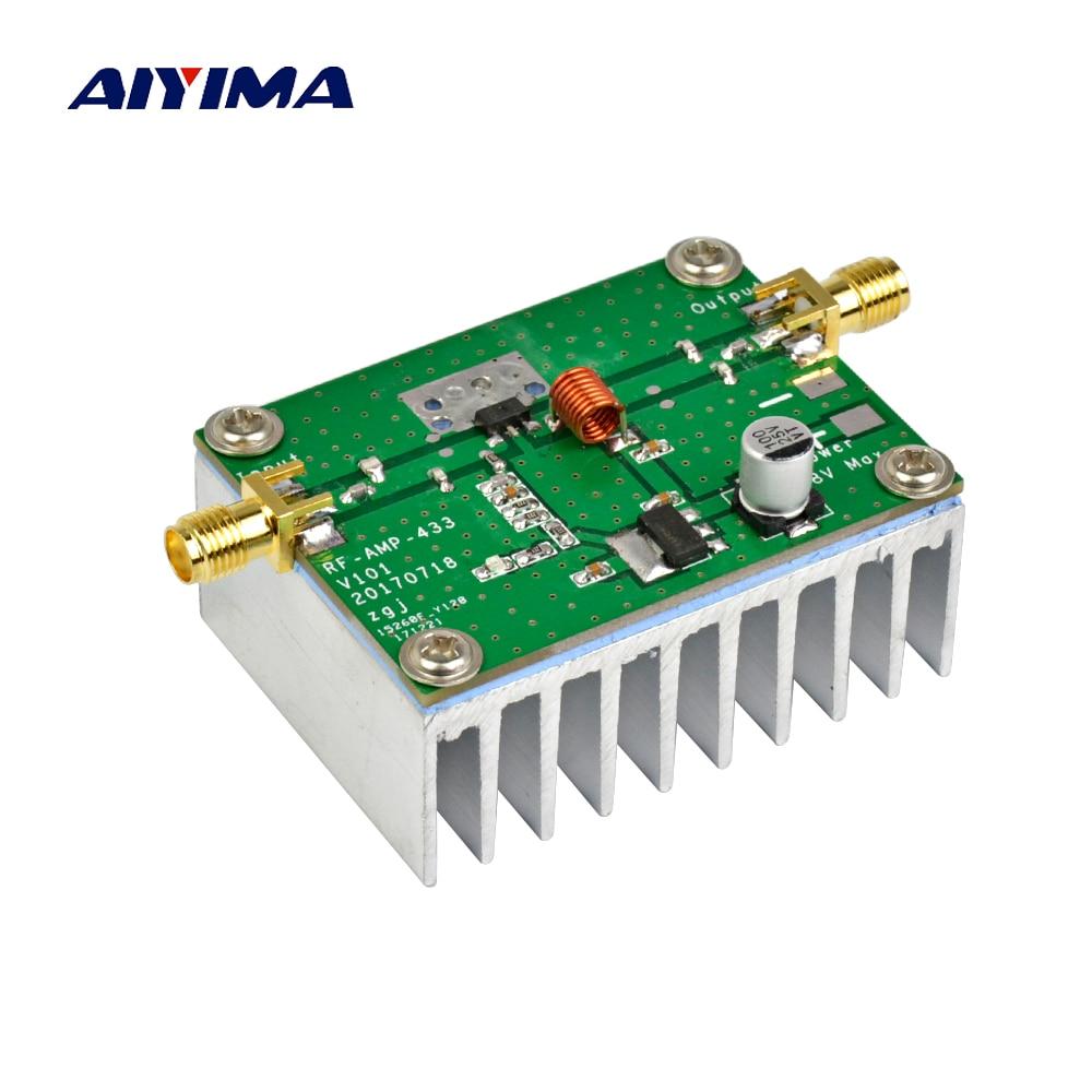 AIYIMA 433MHz 8W placa amplificadora de potencia de RF HF de amplificadores...
