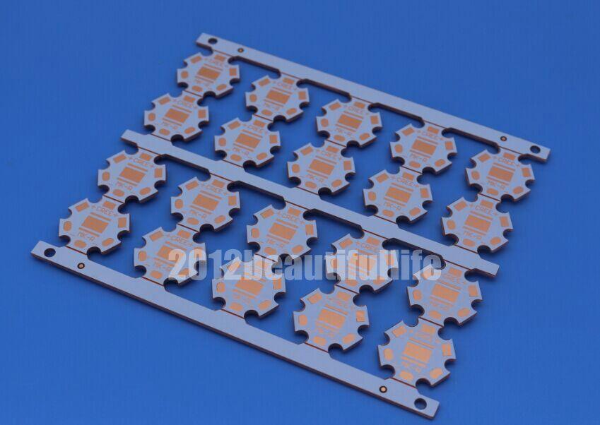 Placa base del disipador de calor del tablero de PCB de cobre de 20mm de alta calidad 5 uds para Cree MKR MK-R Led