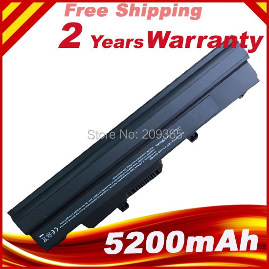 Black Laptop Battery for MSI Wind U90 U210 U100 U230 BTY-S12 3715A-MS6837D1 6317A-RTL8187SE TX2-RTL8187S