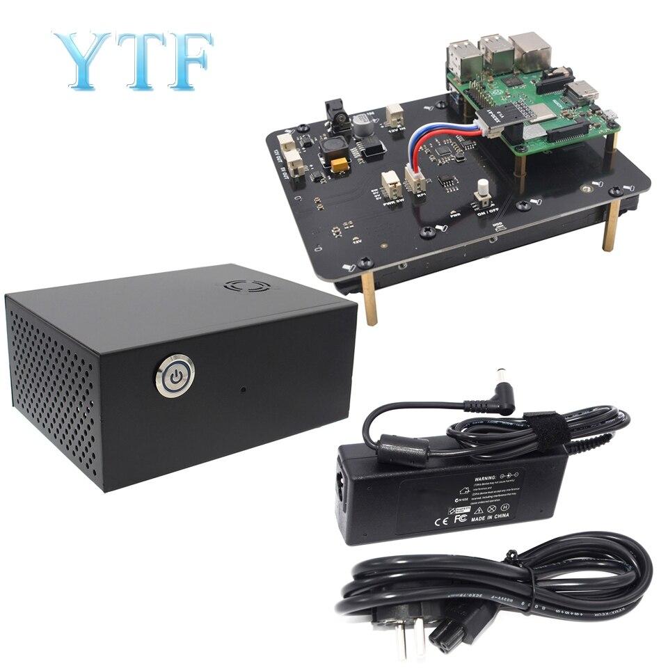 """פטל Pi 2 3 B + בתוספת/3B X830 V2.0 HDD התרחבות לוח W/Veilig כיבוי Functie, 3.5 """"SATA HDD Opslag מודול"""