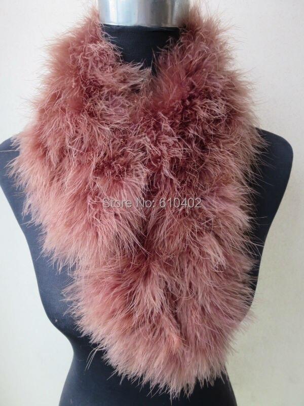 Women's Real Ostrich Feather Fur Wrap / Scarf  70 cm*14 cm Brown Fashion Winter