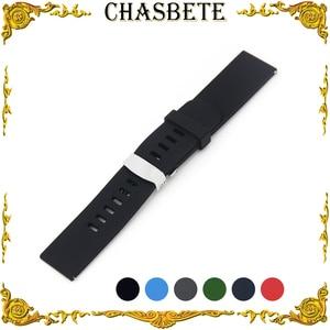 22mm Silicone Rubber Watch Band for Vector Luna / Meridian Quick Release Resin Strap Wrist Loop Belt Bracelet Black Blue Red
