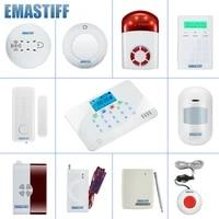 Accessoires de securite complets pour la maison  systeme dalarme sans fil  sirene  detecteur de fumee et de gaz  GSM  WIFI  PSTN