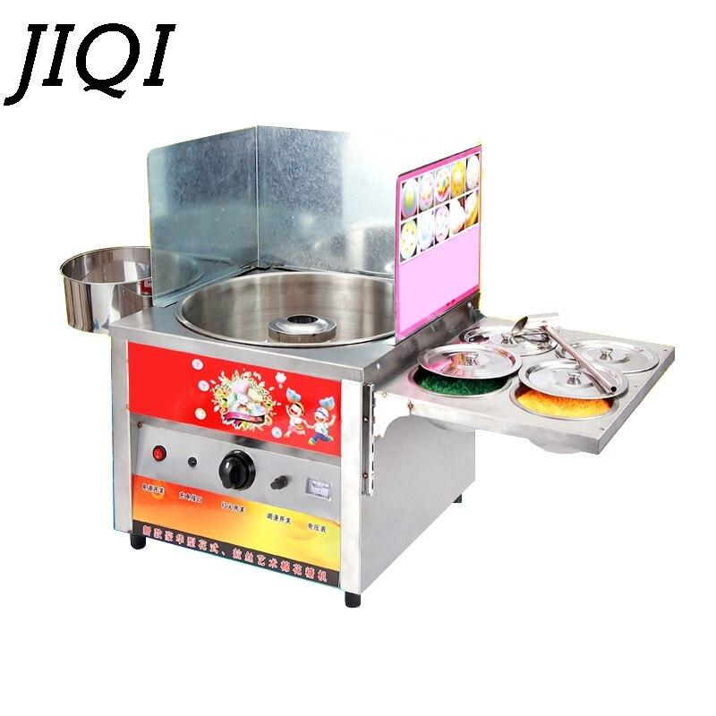 JIQI, máquina comercial a Gas elegante de algodón dulce, fabricante de dulces, flores de caramelo, máquina DIY de malvavisco, aperitivo de hilo de azúcar de hadas para niños