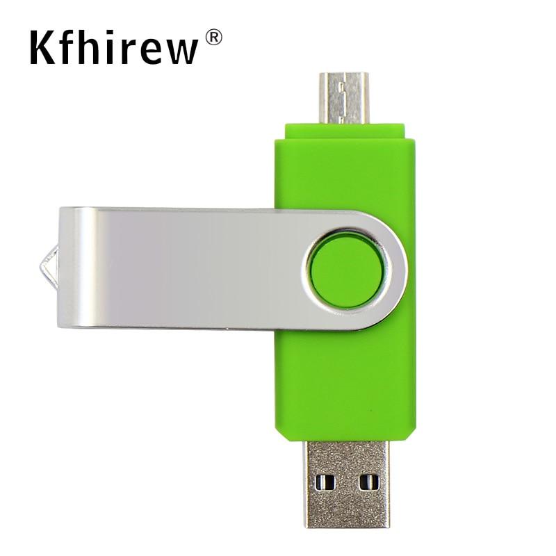 Precio más bajo OTG pendrive 64 memoria pendrive usb 128GB 64GB 32GB 16g usb flash drive 2 en 1 tarjeta flash creativa para Android/PC