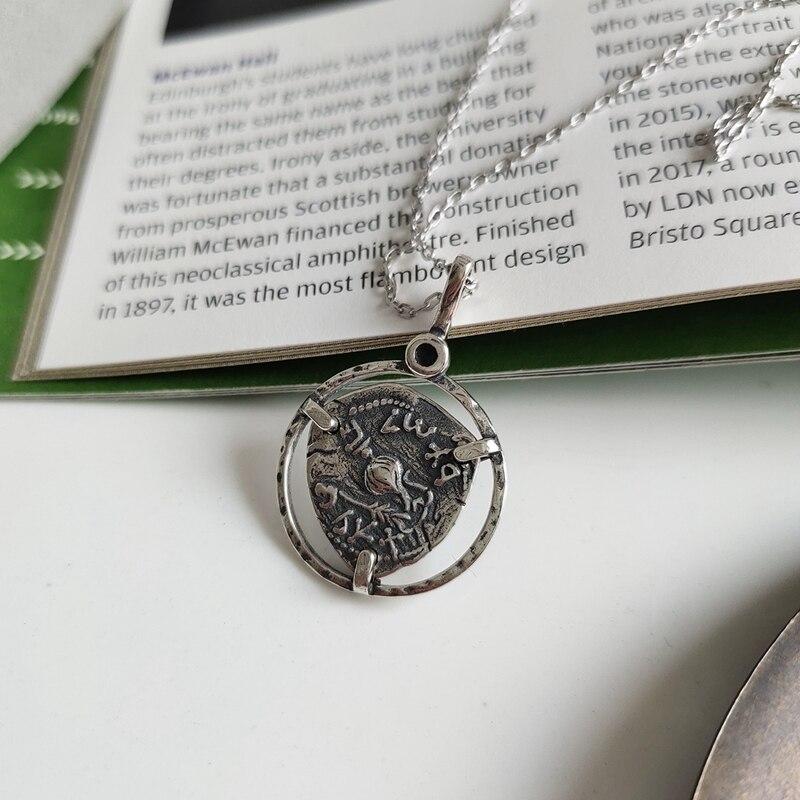 Ожерелье LouLeur, серебро 925 пробы, нерегулярный элемент, Винтаж, Креатив, подвеска, ожерелье для женщин, модные украшения