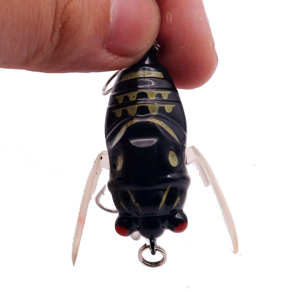 1pcs Bionic Cicada Hard Bait Fishing Lure 5cm/6g Simulation Minnow Wobblers Crankbait Pesca Insect Tackle