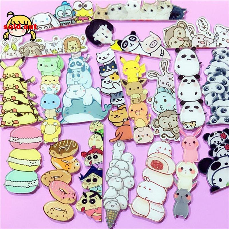 Broche de desenhos animados de acrílico, broche para pinos de estilo kawaii, harajuku, acessórios lindos de pikachu, broche de desenhos animados, broche de colar, 1 peça