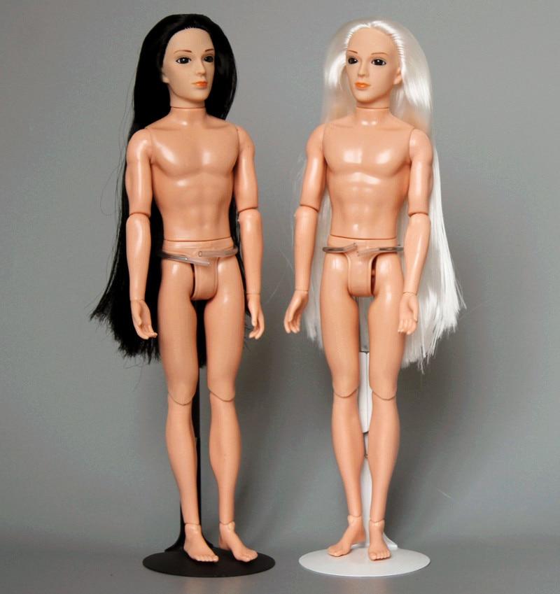 3D ojos MUÑECA/con 14 articulación movible/pelo largo Nude desnuda novio para muñeca...