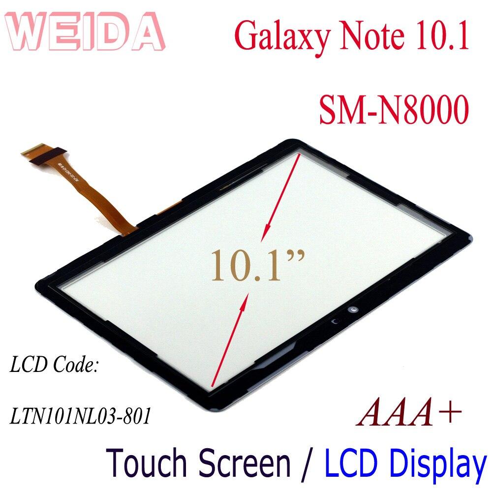 "WEIDA Replacment LCD 10.1 ""Para Samsung Galaxy Note N8000 LCD Tela de Toque Digitador Separadamente P5110 P5113"