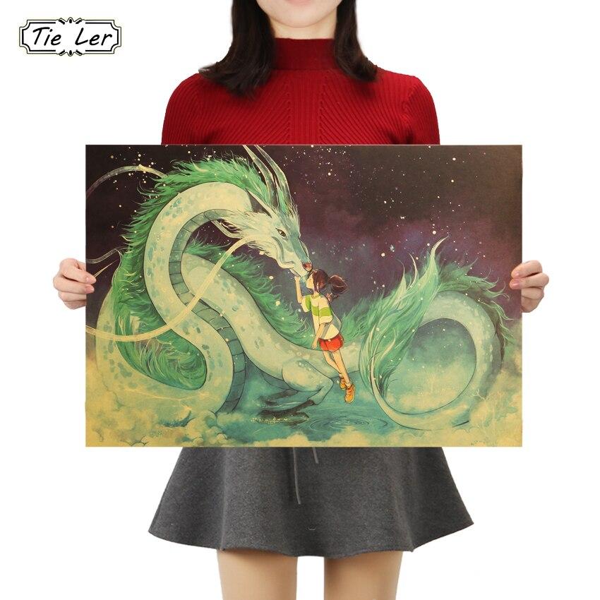 TIE LER классический Постер Мультфильма аниме фильм крафт-бумага плакат декоративной живописи наклейки на стену 50.5X35cm