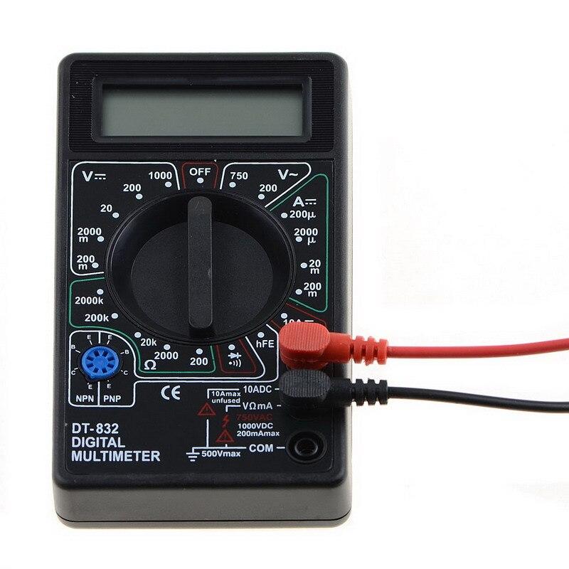 Nuevo 1 PC DT-832 Digital LCD voltímetro amperímetro Ohm probador multímetro zumbador herramienta de diagnóstico