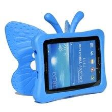 "Crianças eva cartoon butterfly 7 ""tablet capa para samsung galaxy tab e lite t113 t110 tab 3 4 t210 t230 t235 t237 caso à prova de choque"