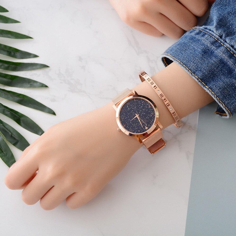 Relógio cinto de malha das Mulheres 2019 Simples irregularidade Lvpai Pequeno ponto Selo liga dial moda Quartz Relógio de Pulso Presente montre a7