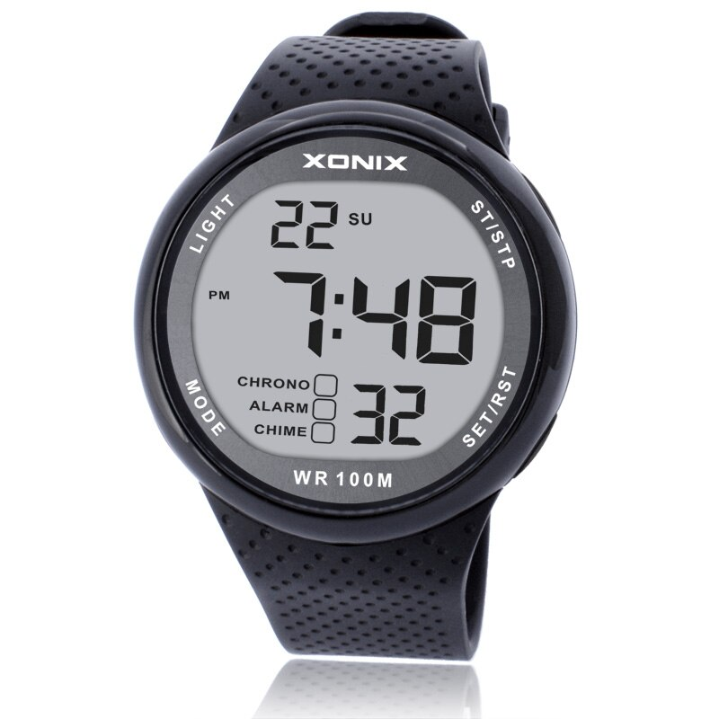 Reloj de pulsera de marca de lujo Unisex para Hombre 100M Relogio Masculino LED Digital buceo Reloj de Hombre Sport Hours