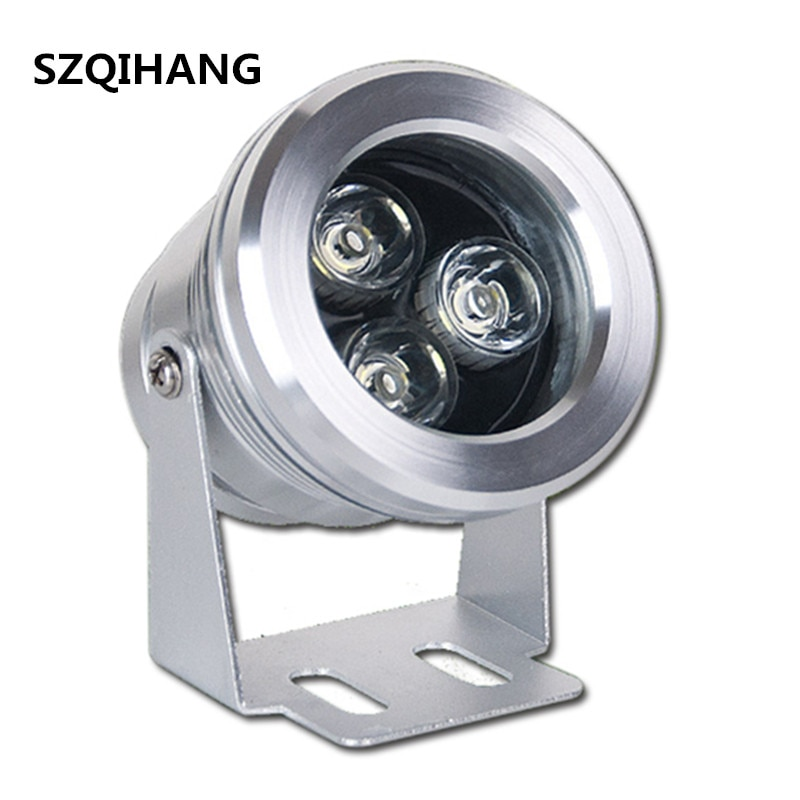 9w led foco spotlight dc 12v outdoor waterproof ip68 lawn lamp arowana flood spot lampara for garden pool square wall lighting Silver shell 9W High quality Outdoor Led Flood Lamp,Waterproof IP65 Landscape Lamp Red/Warm/Cold White AC/DC 12V Led Spotlight