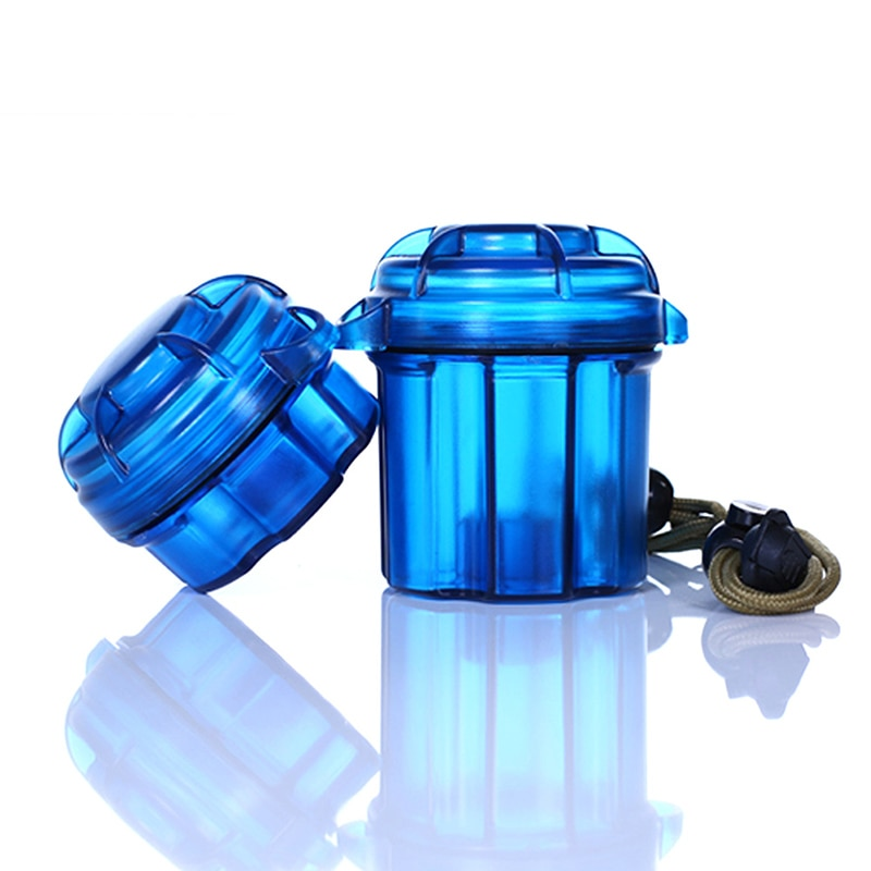 Edc ao ar livre engrenagem sobrevivência cápsula recipiente de armazenamento à prova dwaterproof água caixa titular da bateria caso ferramenta acampamento
