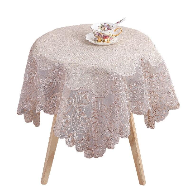 Mantel bordado Simple elegante de encaje europeo, mantel de mesa de té, decoración para el hogar, manteles rectangulares, manteles de mesa