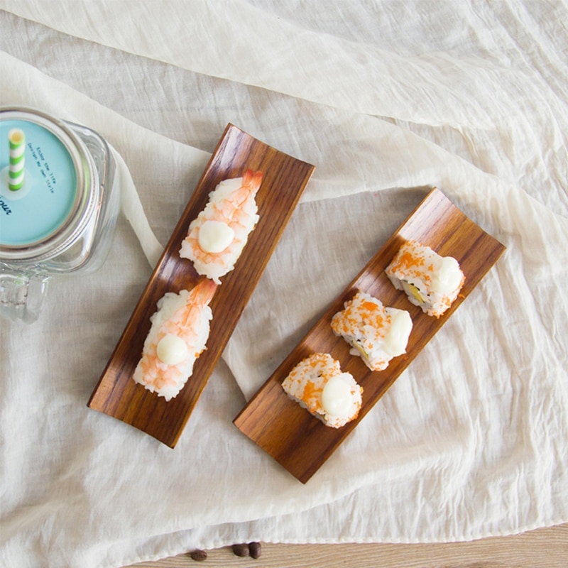 1 шт. деревянные пельмени суши сервировочный лоток продолговатая тарелка салатные блюда для хлеба кухня ресторан товары для дома