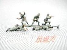 Super mini 1 72 soldats allemands de la seconde guerre mondiale ont fini le modèle en vrac 5 pièces/ensemble