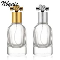 nbyaic 1pcs 50ml high grade glass perfume bottle toning moisture bottle rope shape lid thick bottom spray bottle