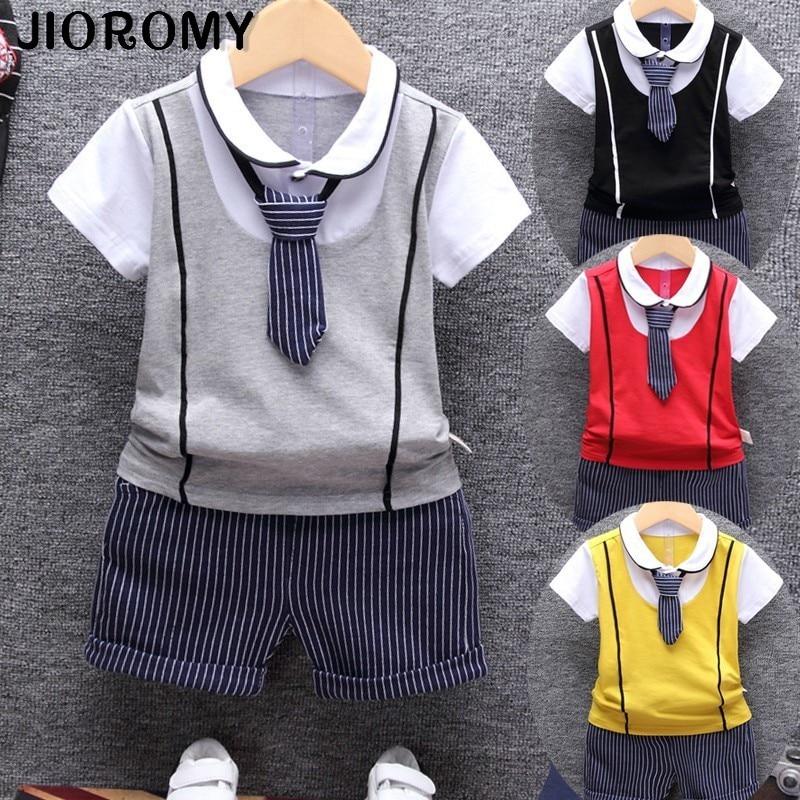 Conjuntos de ropa de algodón para bebés de verano 2018, fiesta de cumpleaños conjunto Formal de 1 año para, conjunto de ropa, camiseta + pantalón, conjuntos de tela para niños
