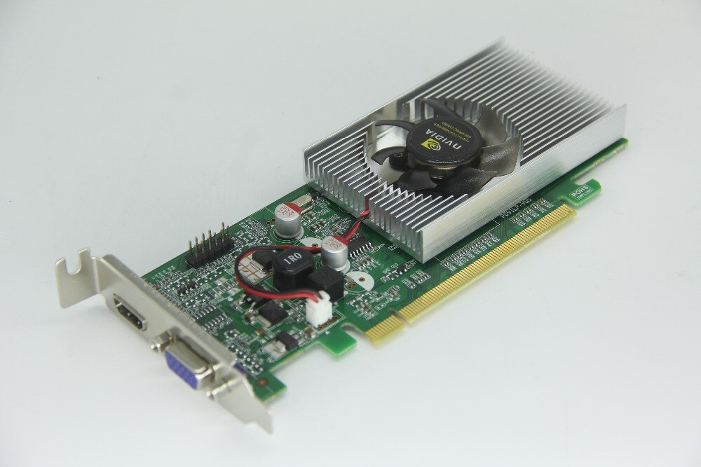 Para nVideo Geforce tarjeta gráfica de vídeo GT610 1GB 64BIT DDR2 VGA + DVI + HDMI PCI-E X16 caja normal de PC y LP más fuerte que HD6450
